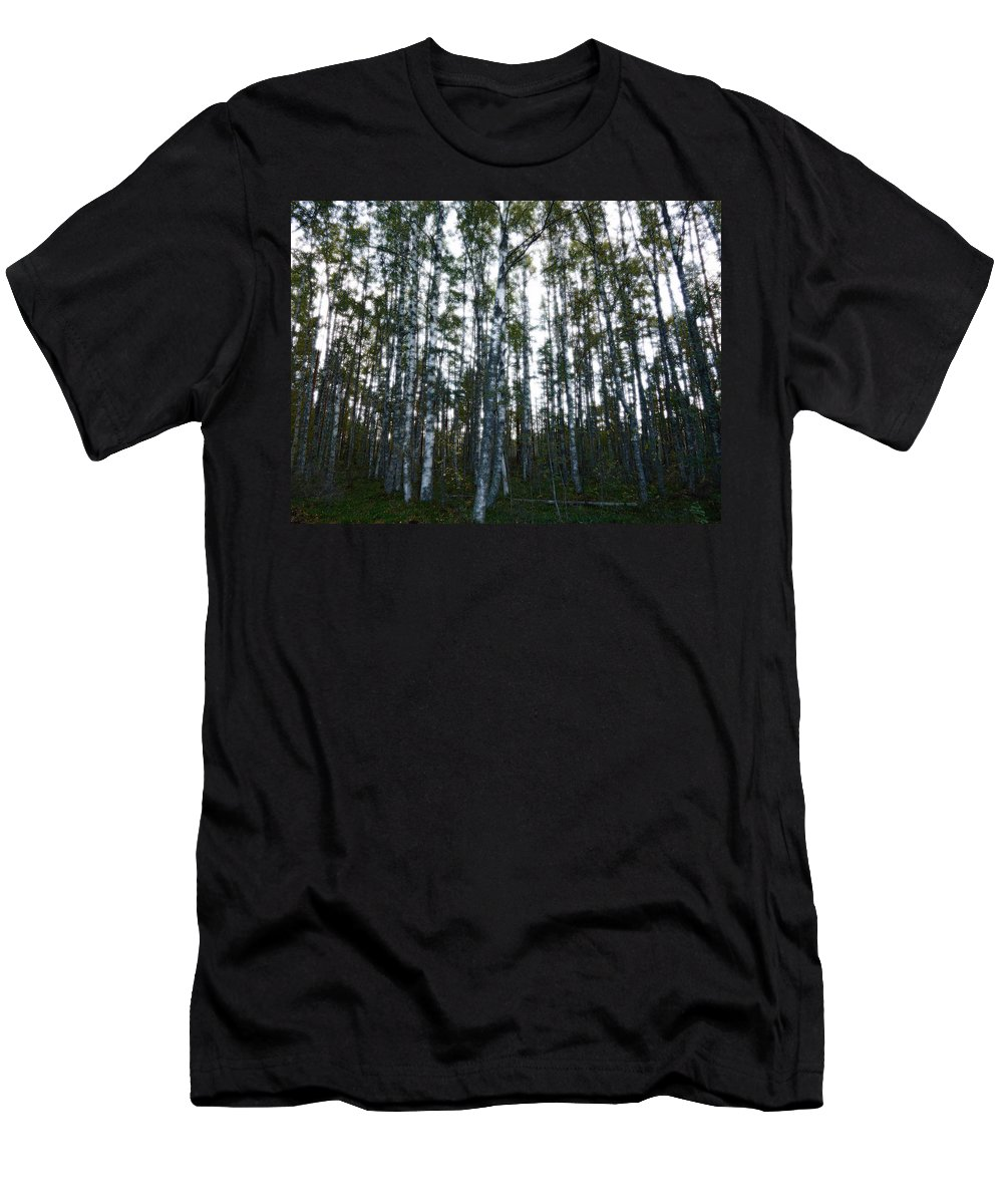 Finland Men's T-Shirt (Athletic Fit) featuring the photograph Forest II by Kukka Lehto