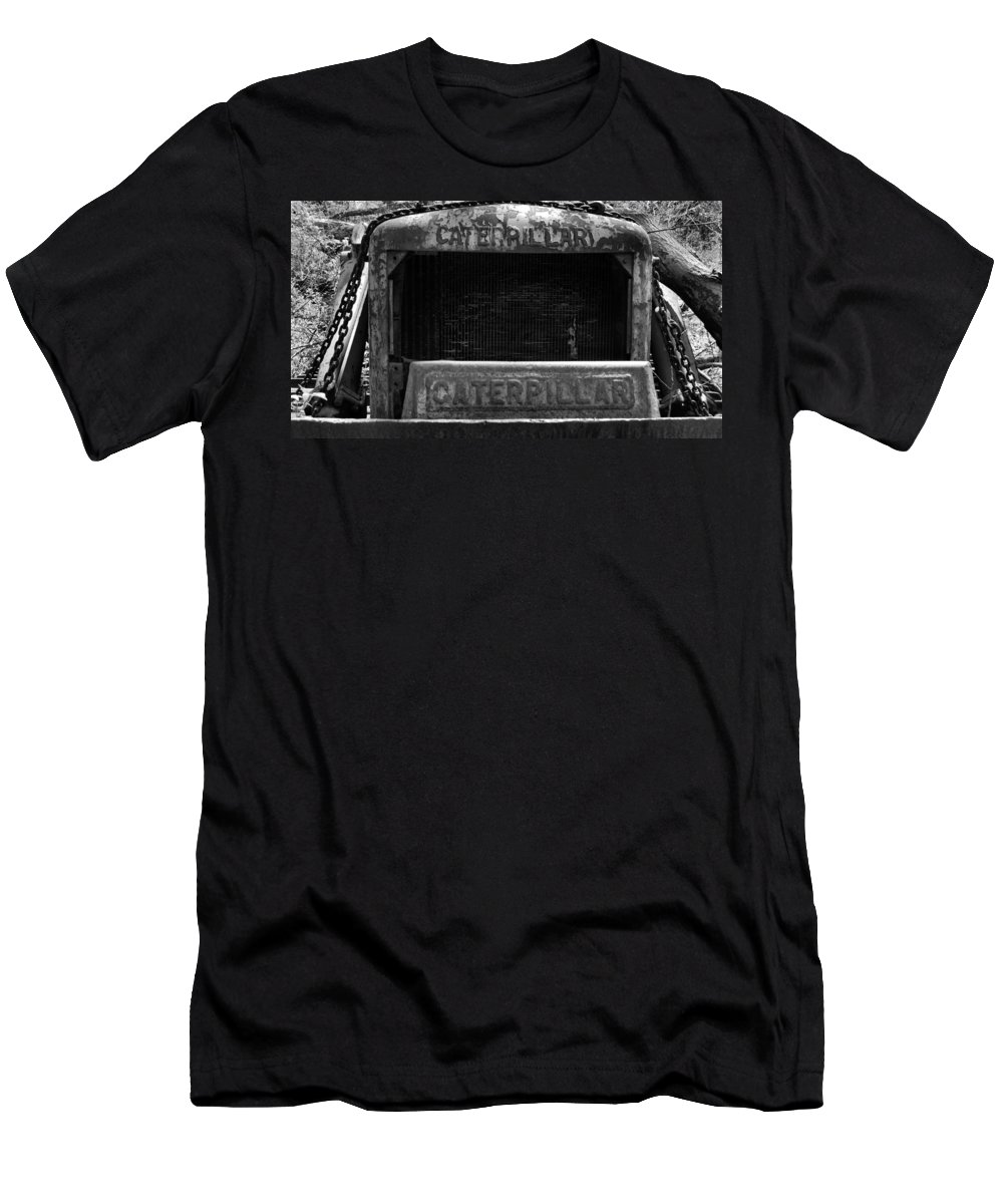 Rustic Men's T-Shirt (Athletic Fit) featuring the photograph Forgotten Equipment by Art Dingo