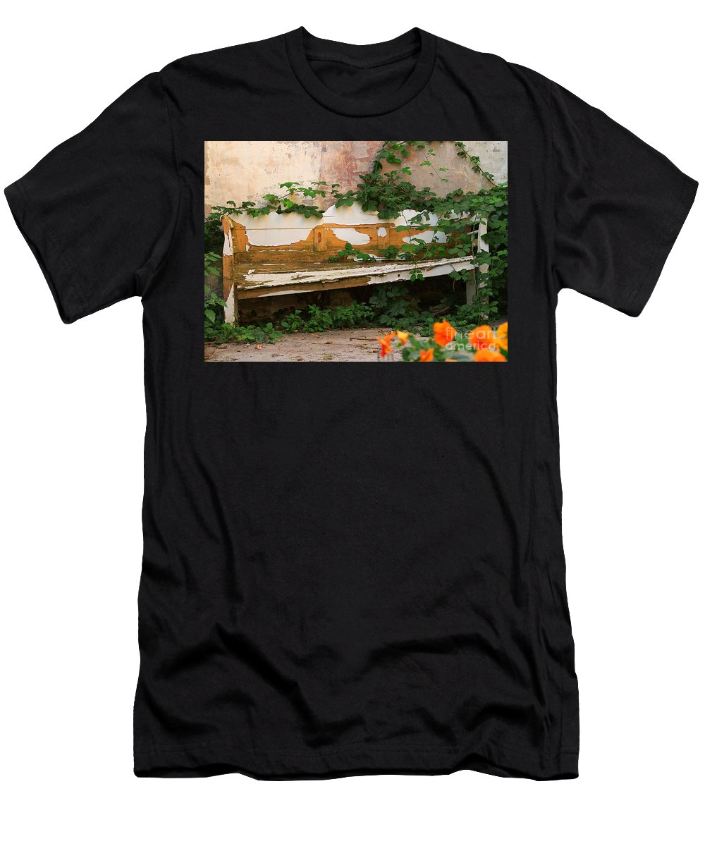 Photography Men's T-Shirt (Athletic Fit) featuring the photograph The Forgotten Garden by Luc Van de Steeg