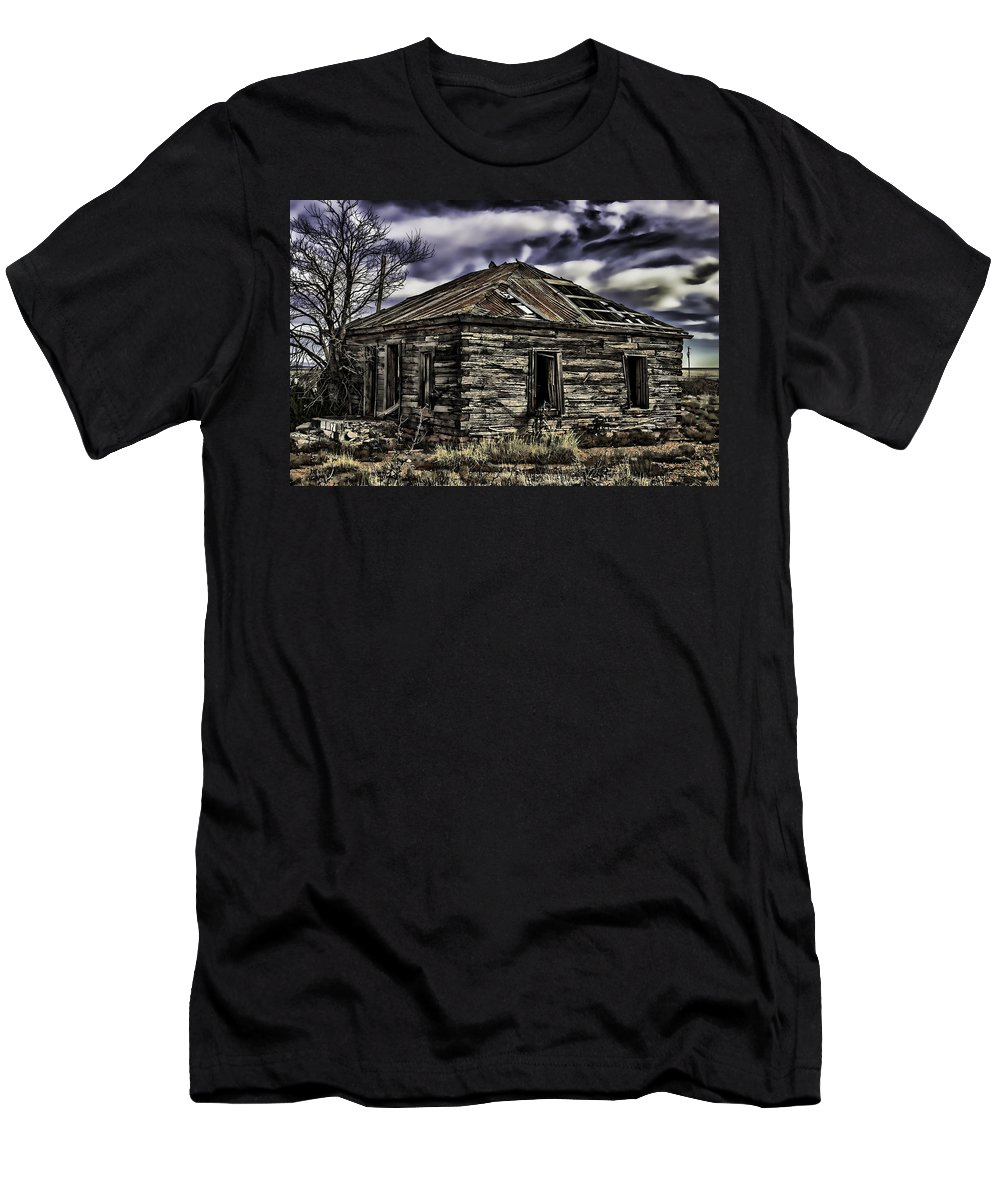House Men's T-Shirt (Athletic Fit) featuring the painting Forgotten by Muhie Kanawati