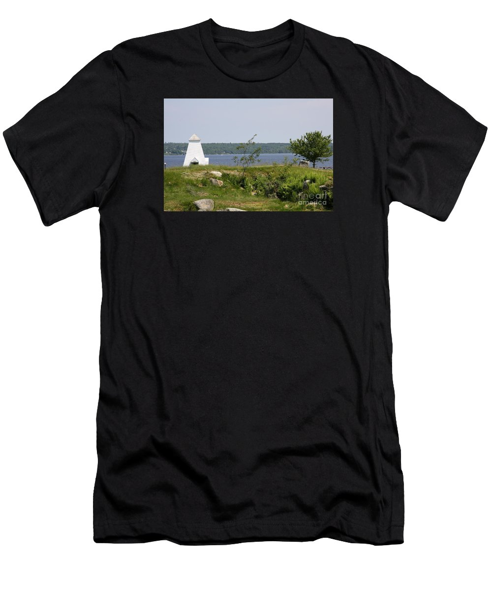 Fort Point State Park Men's T-Shirt (Athletic Fit) featuring the photograph Fort Point State Park - Maine by Christiane Schulze Art And Photography