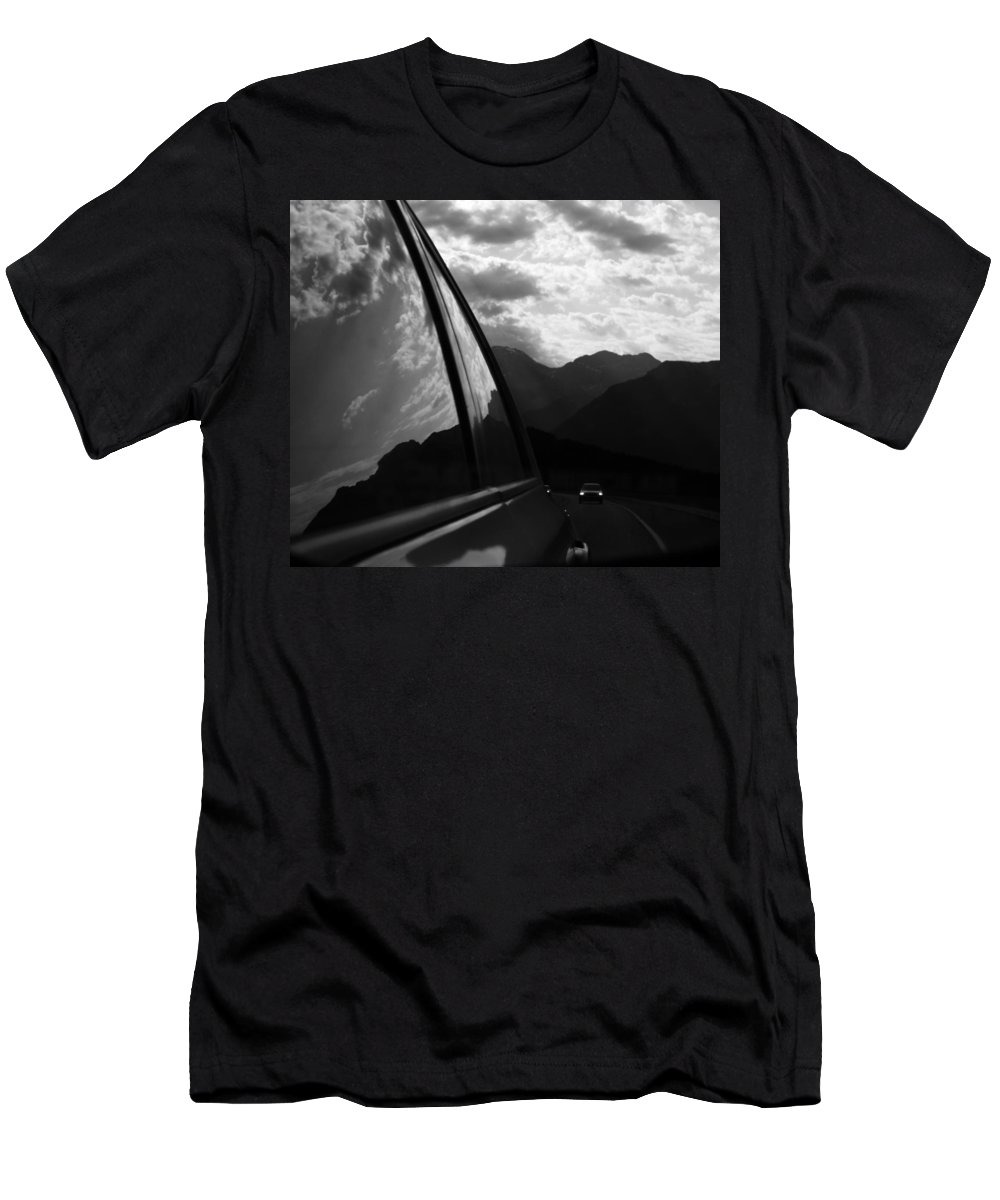 Mountains Men's T-Shirt (Athletic Fit) featuring the photograph Forward To New by The Artist Project