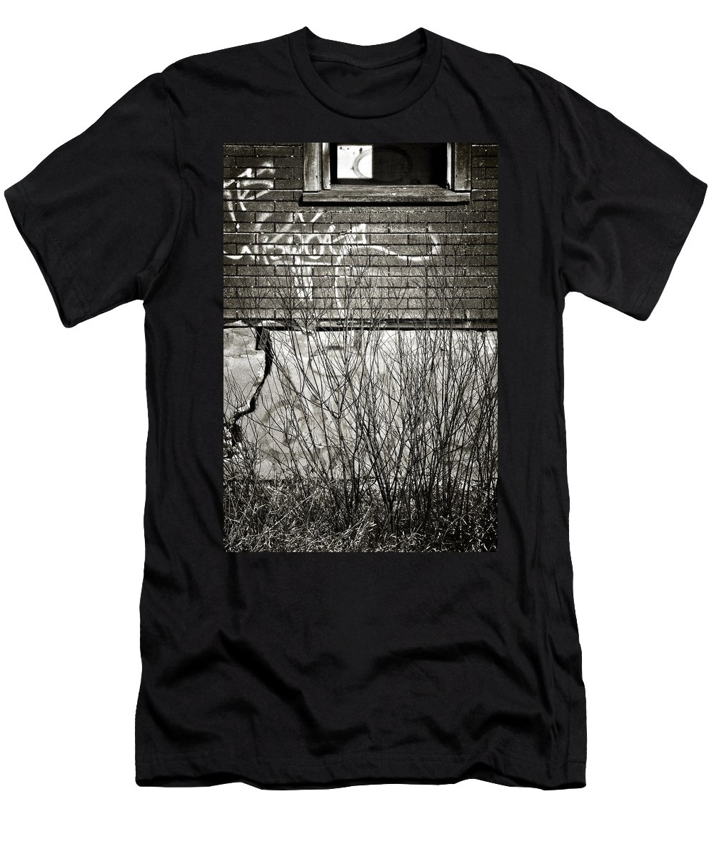 Old House Men's T-Shirt (Athletic Fit) featuring the photograph Foundation Faults by The Artist Project