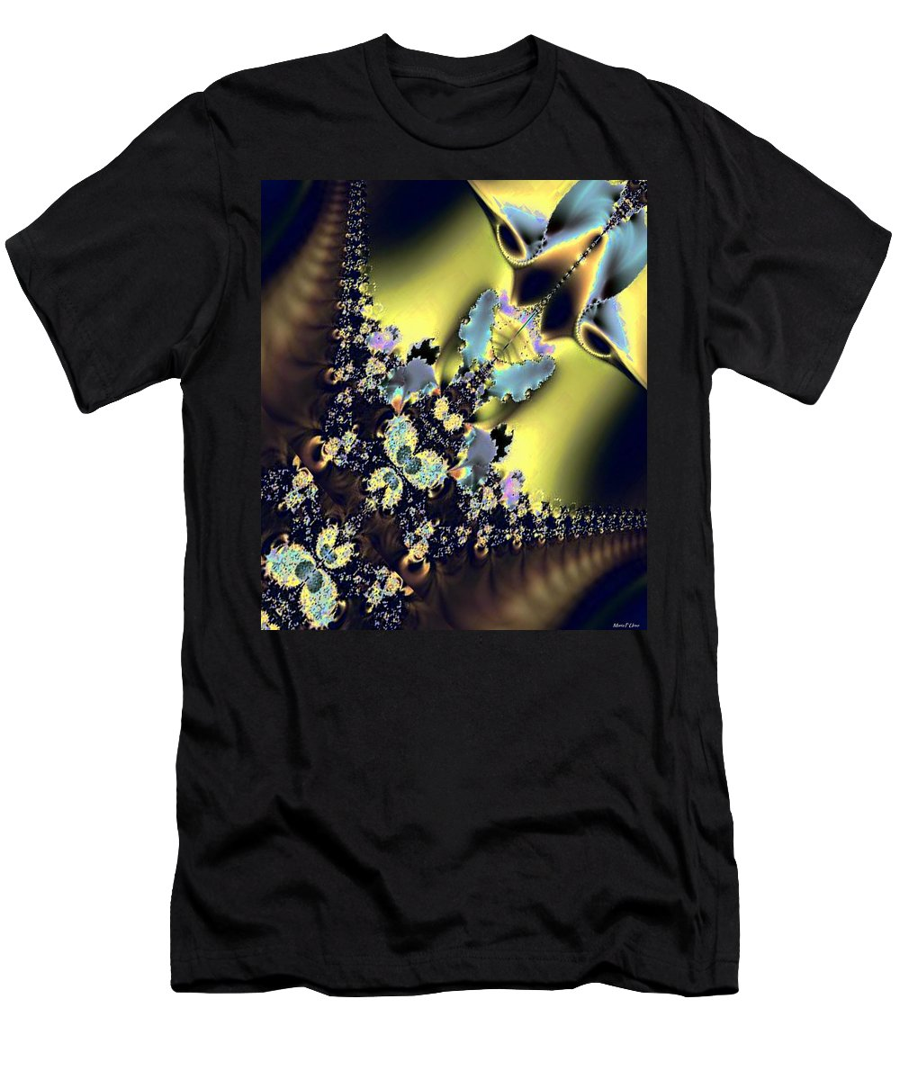 Fractal 009 Men's T-Shirt (Athletic Fit) featuring the digital art Fractal 009 by Maria Urso
