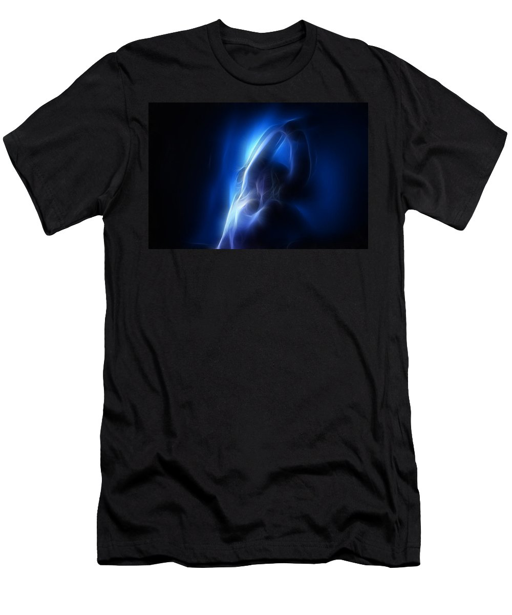 Nude Men's T-Shirt (Athletic Fit) featuring the photograph Fractal Nude 4030 by Timothy Bischoff