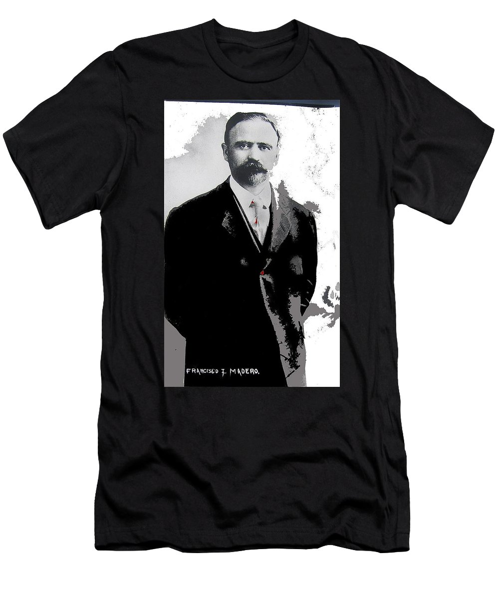 Francisco Madero Portrait No Location Or Date Men's T-Shirt (Athletic Fit) featuring the photograph Francisco Madero Portrait No Location Or Date-2013 by David Lee Guss