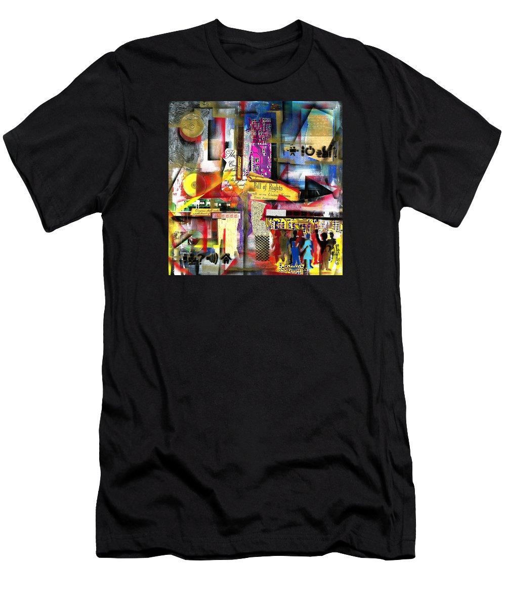 Everett Spruill T-Shirt featuring the painting Freedom of Speech 3 by Everett Spruill