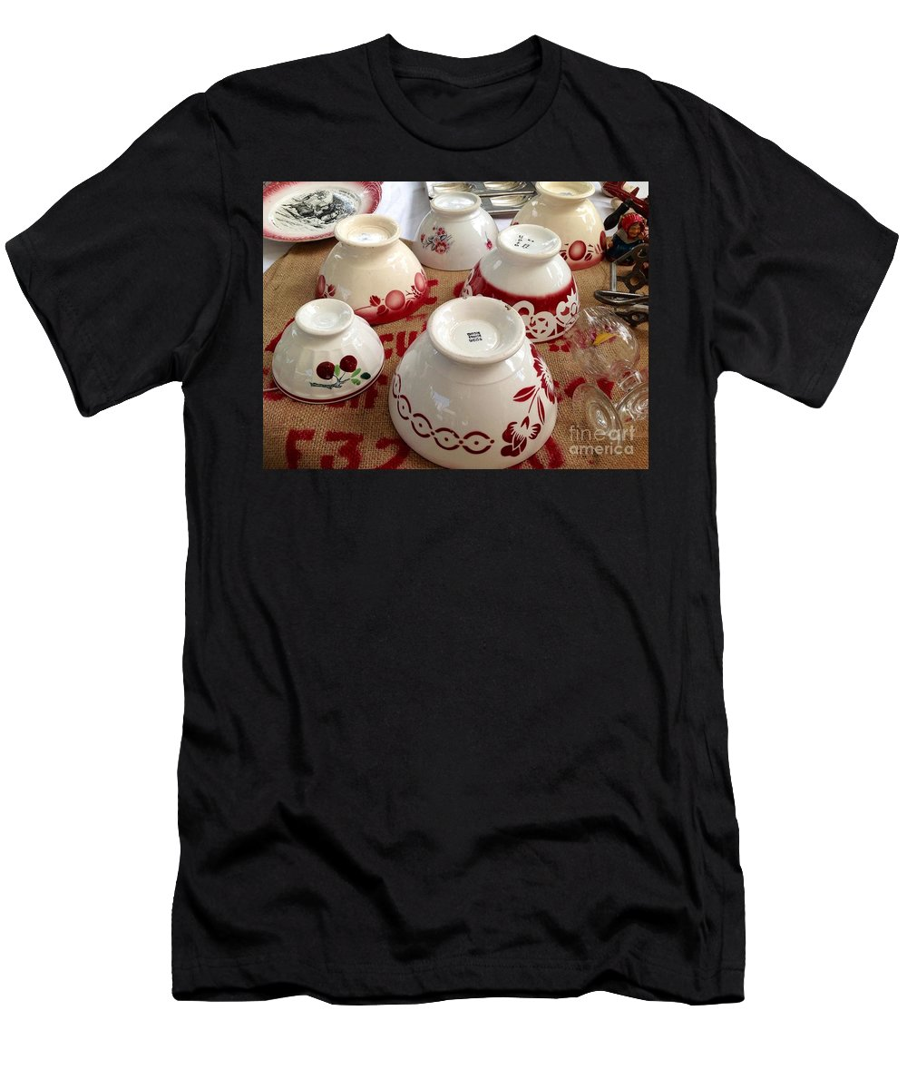 France Men's T-Shirt (Athletic Fit) featuring the photograph French Cafe Bowls by France Art
