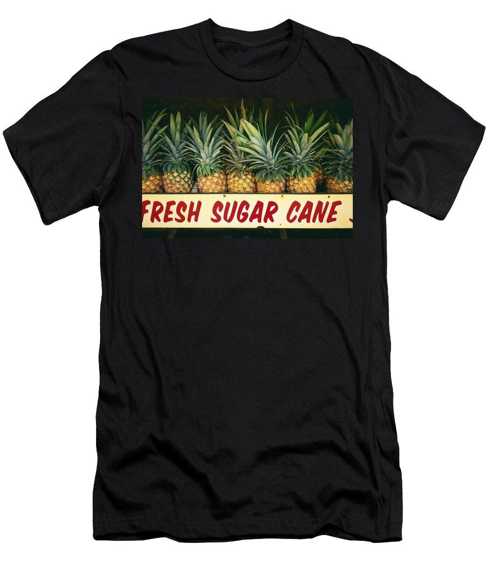 Bin Men's T-Shirt (Athletic Fit) featuring the photograph Fresh Sugar Cane by Dana Edmunds - Printscapes