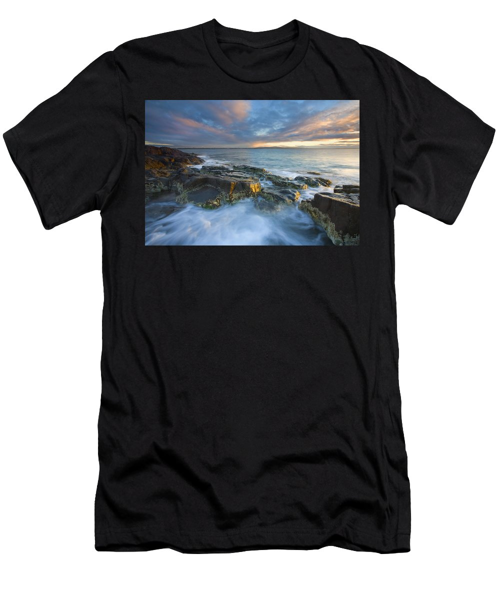 Freycinet Men's T-Shirt (Athletic Fit) featuring the photograph Freycinet Cloud Explosion by Mike Dawson