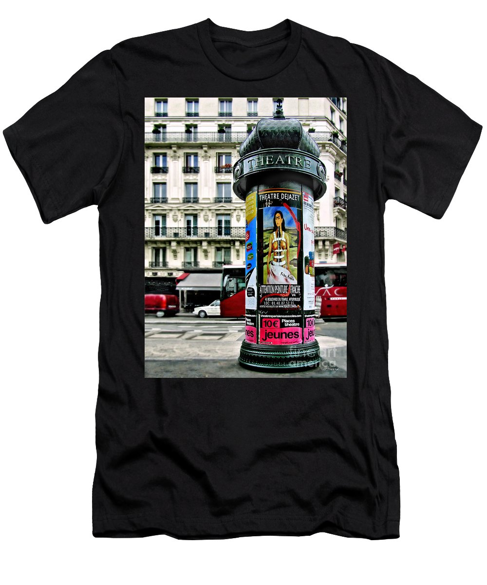 Frida Men's T-Shirt (Athletic Fit) featuring the photograph Frida In Paris by Jennie Breeze