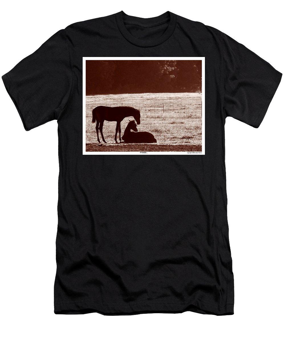 Friends Men's T-Shirt (Athletic Fit) featuring the photograph Friends by Gene Tatroe