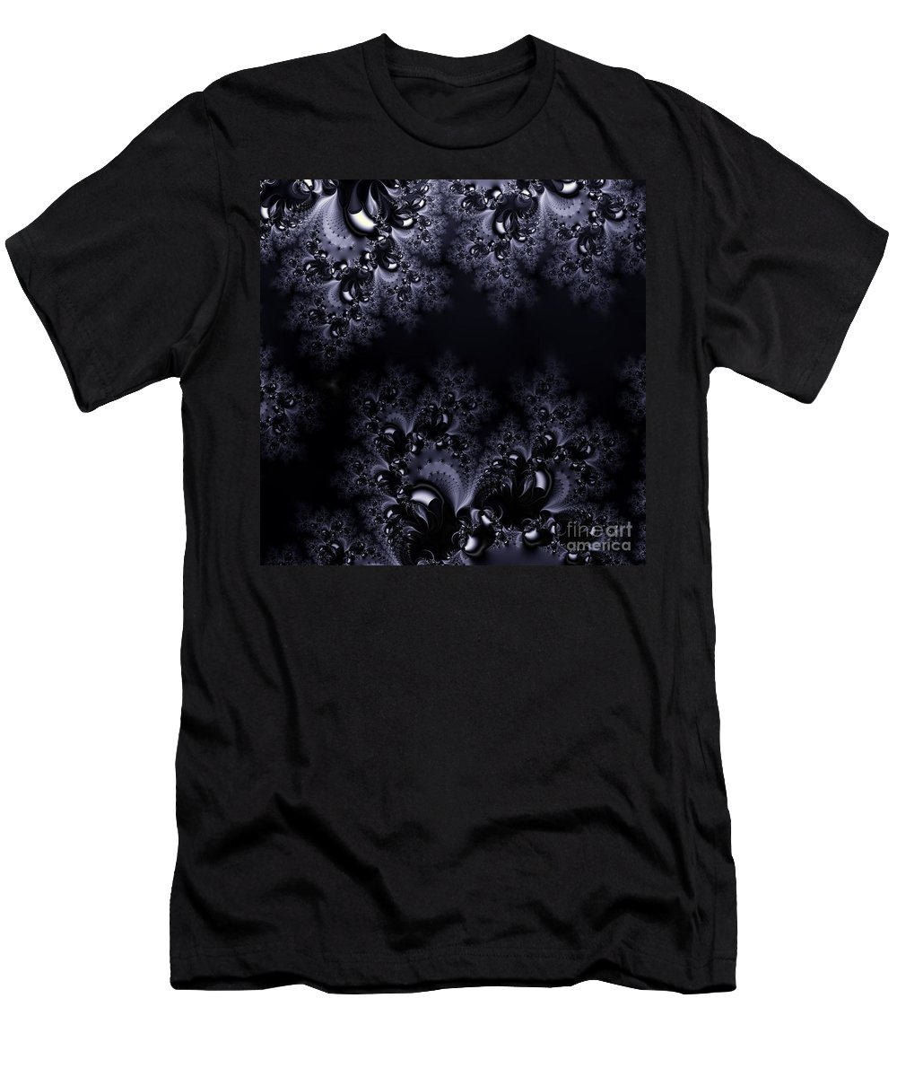 Moonlight Men's T-Shirt (Athletic Fit) featuring the digital art Frost In The Moonlight Fractal by Rose Santuci-Sofranko