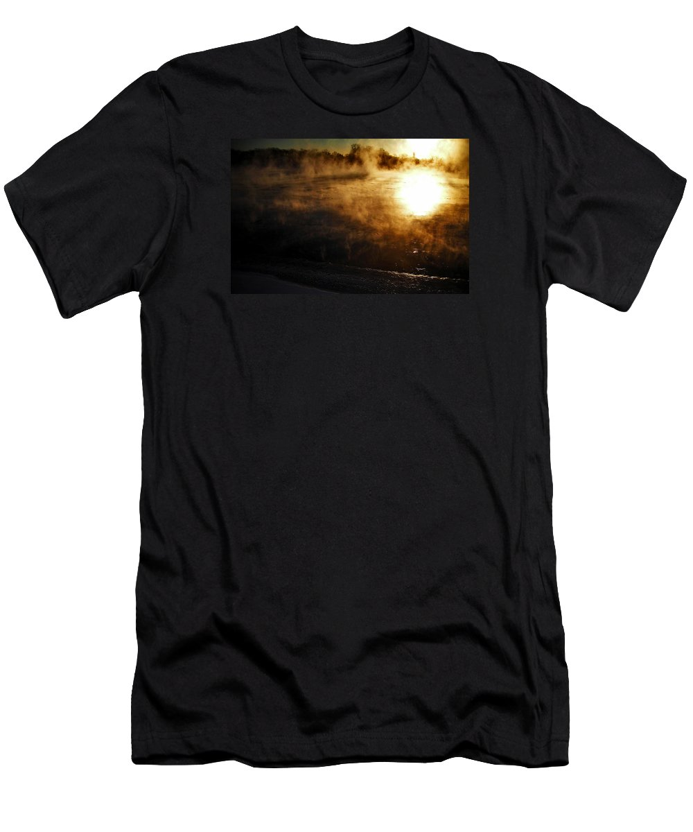 North America Men's T-Shirt (Athletic Fit) featuring the photograph Frosty Morning ... by Juergen Weiss