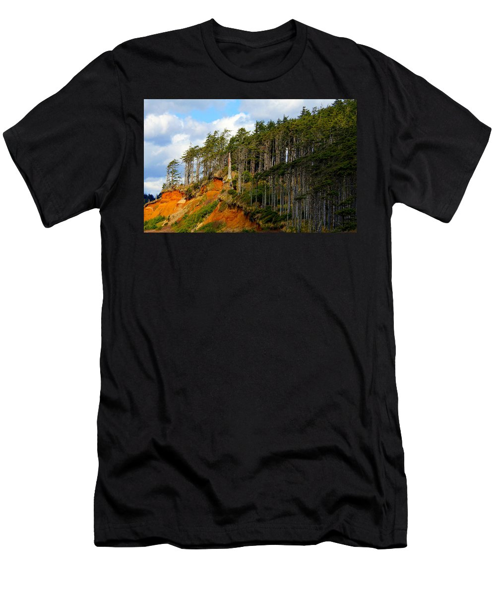 Landscape Men's T-Shirt (Athletic Fit) featuring the photograph Frozen In Time by Jeanette C Landstrom