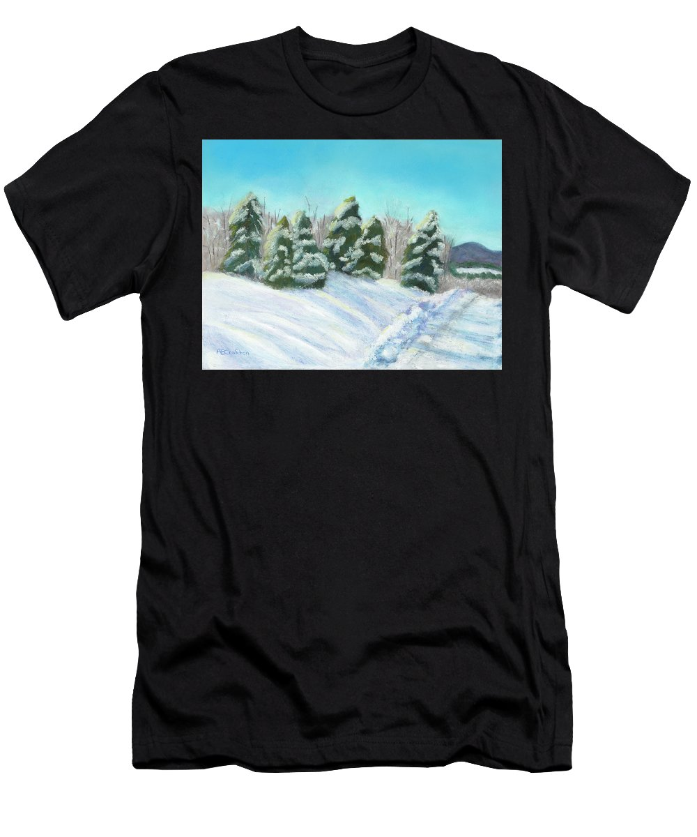 Snow Men's T-Shirt (Athletic Fit) featuring the painting Frozen Sunshine by Arlene Crafton
