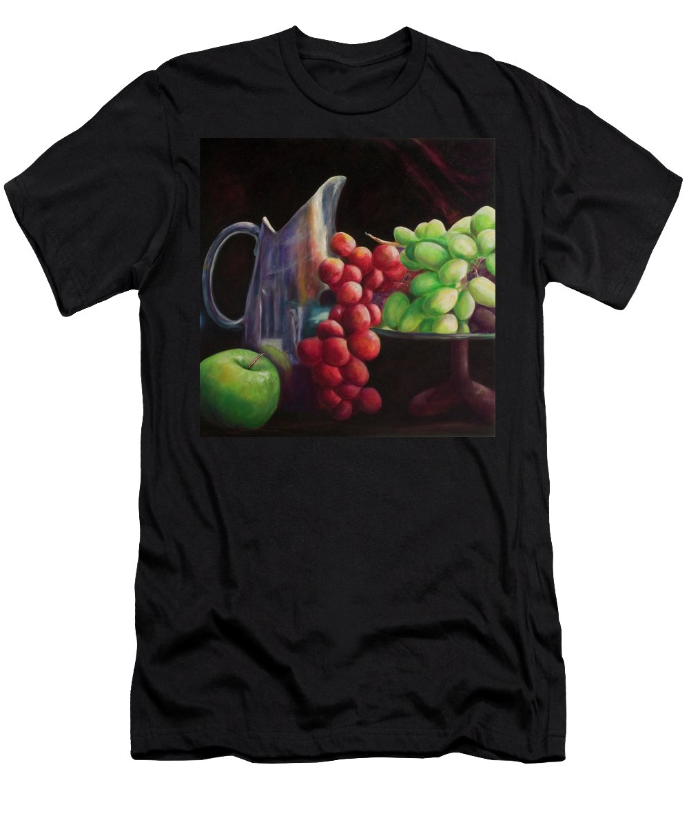 Grapes T-Shirt featuring the painting Fruit of the Vine by Shannon Grissom