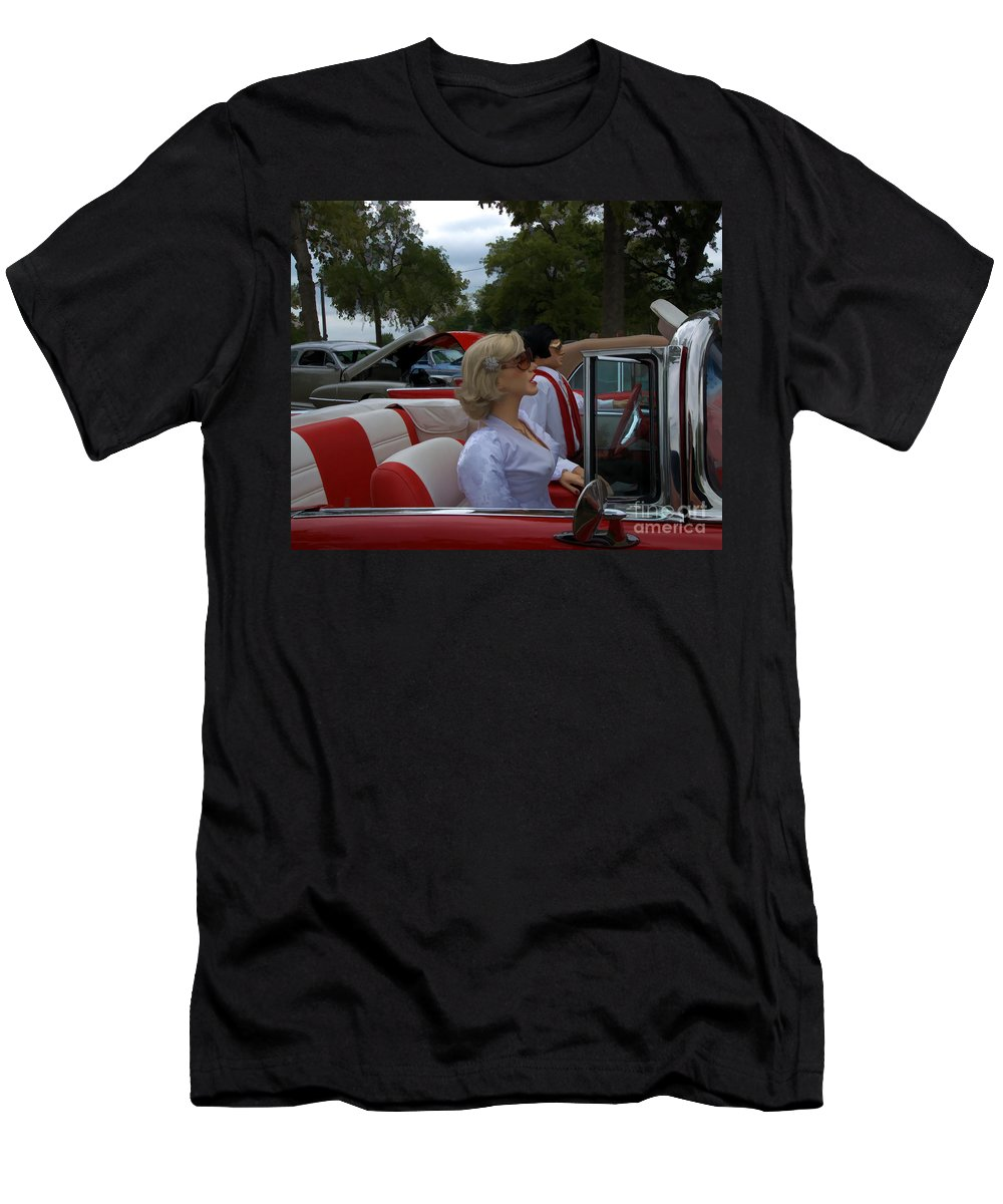 Fuel Injection Cadillac Men's T-Shirt (Athletic Fit) featuring the photograph Fuel Injection Cadillac by Liane Wright