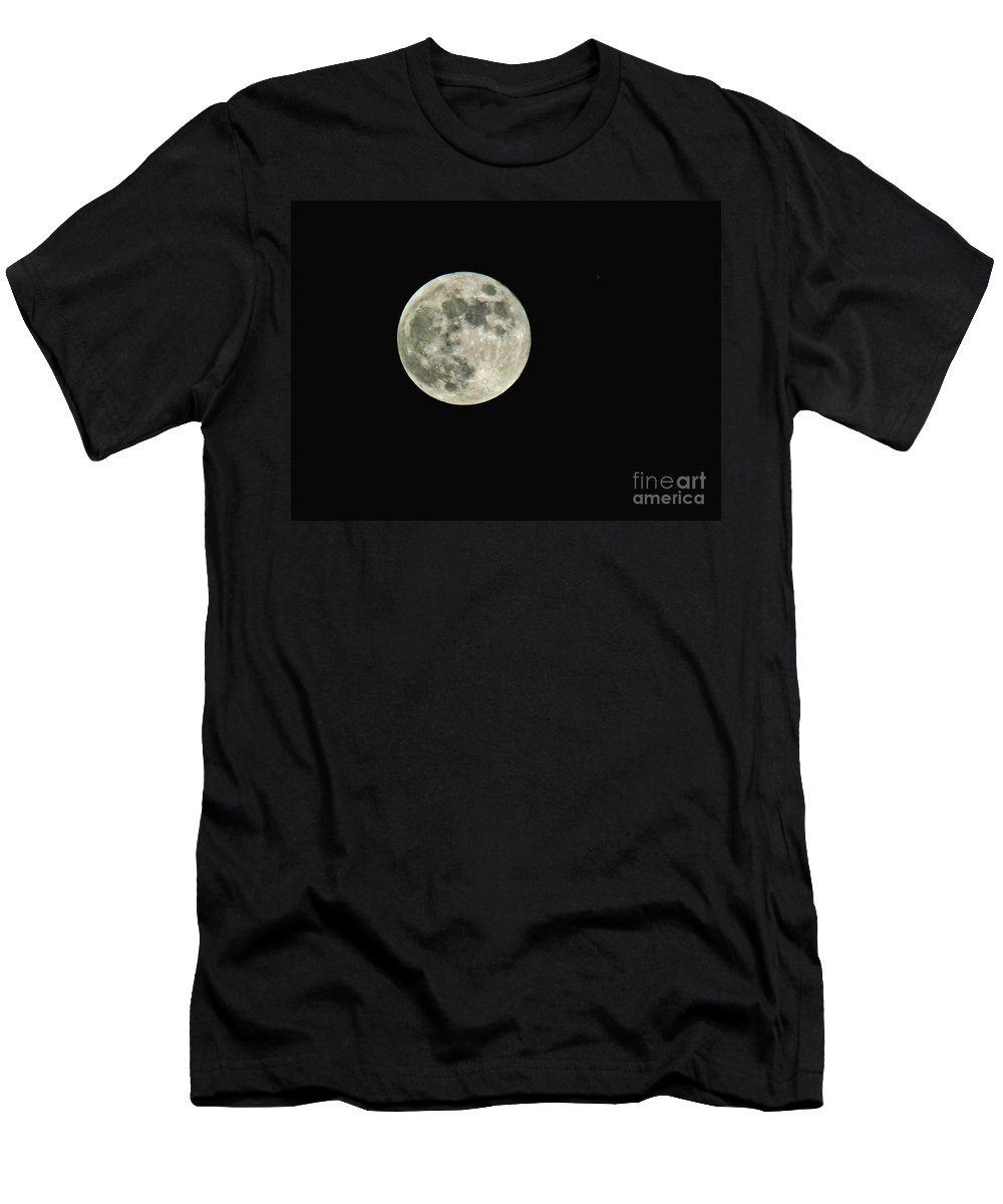 Nature Men's T-Shirt (Athletic Fit) featuring the photograph Full Moon by Debbie Portwood
