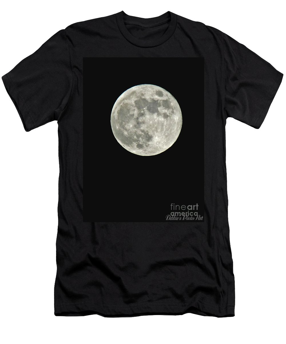 Nature Men's T-Shirt (Athletic Fit) featuring the photograph Full Moon II by Debbie Portwood