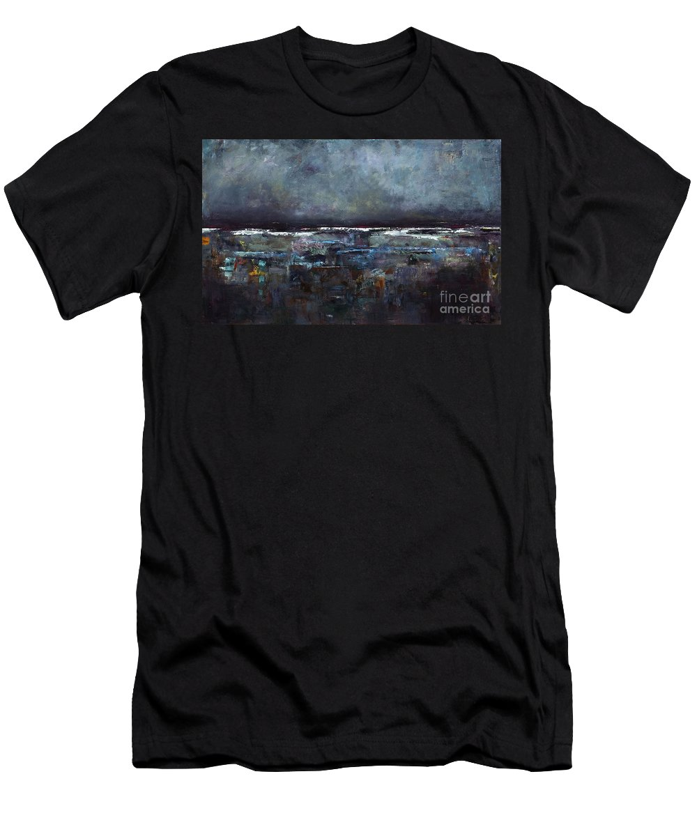 Ocean Men's T-Shirt (Athletic Fit) featuring the painting The Seas Reflection by Frances Marino