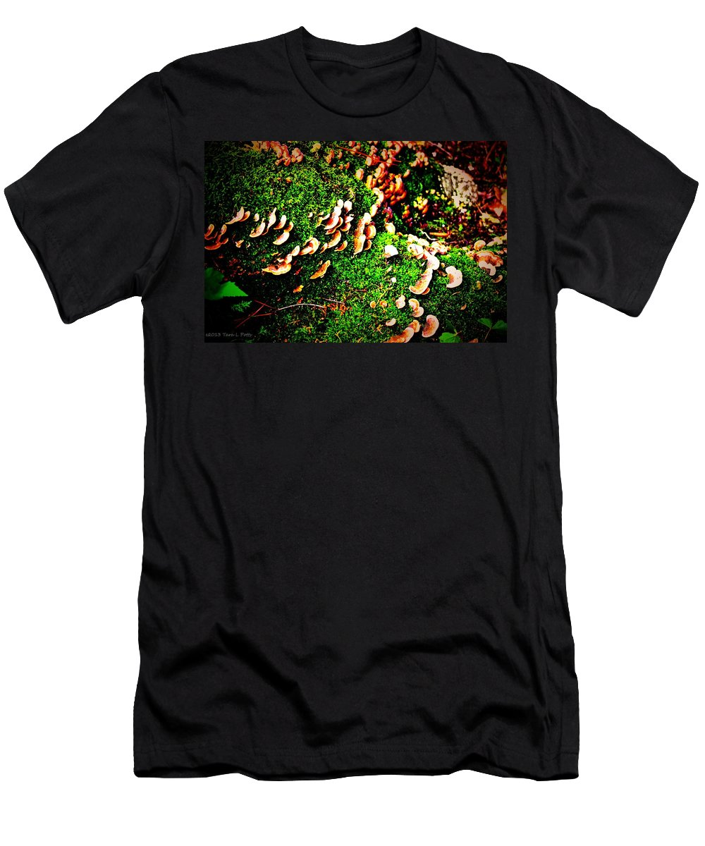 Fungi Men's T-Shirt (Athletic Fit) featuring the photograph Fungus Among Us by Tara Potts