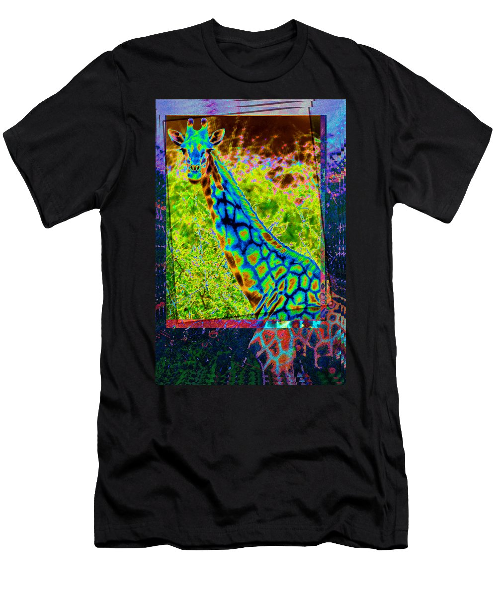 Giraffe Men's T-Shirt (Athletic Fit) featuring the photograph Funky Giraffe by Mauro Celotti