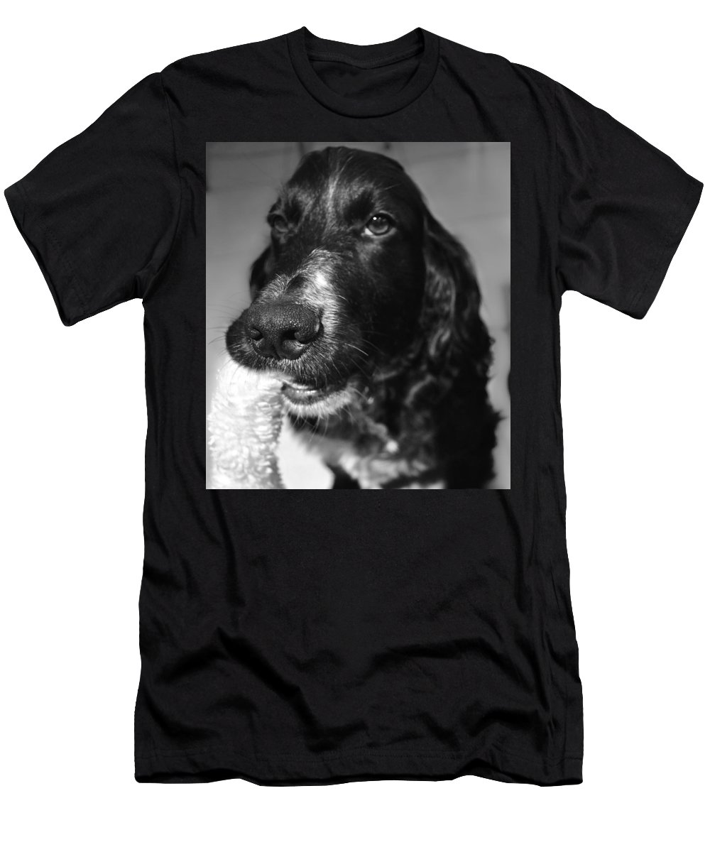 Dog Men's T-Shirt (Athletic Fit) featuring the photograph Funny Boy by Kristina Deane