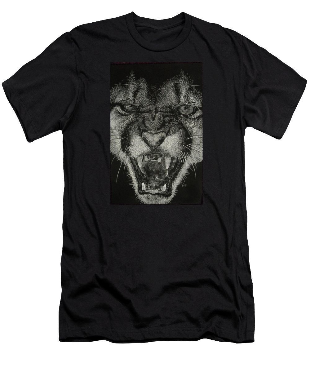 Art T-Shirt featuring the mixed media Fury by Barbara Keith