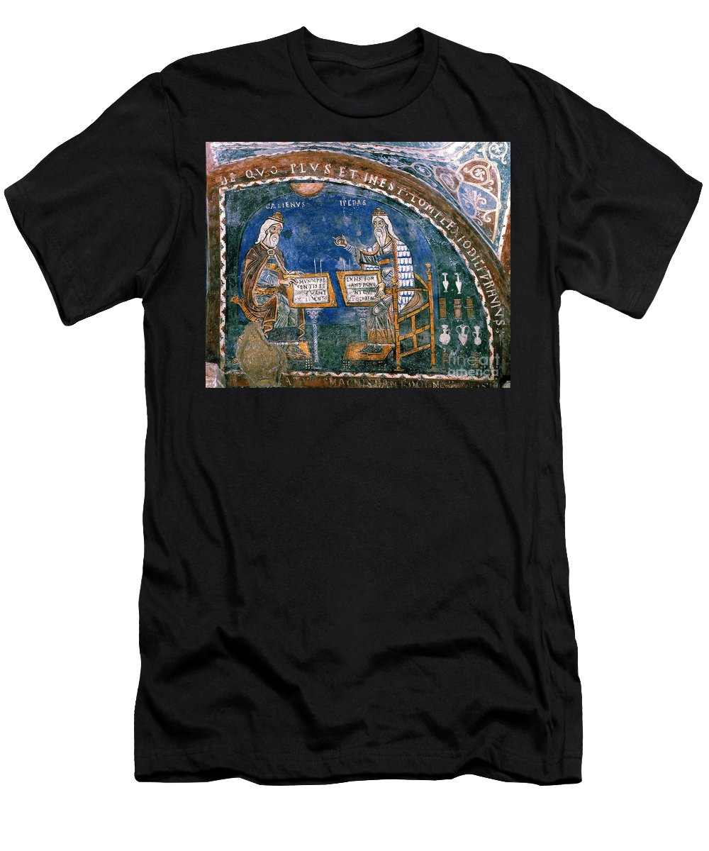 13th Century Men's T-Shirt (Athletic Fit) featuring the photograph Galen And Hippocrates by Granger