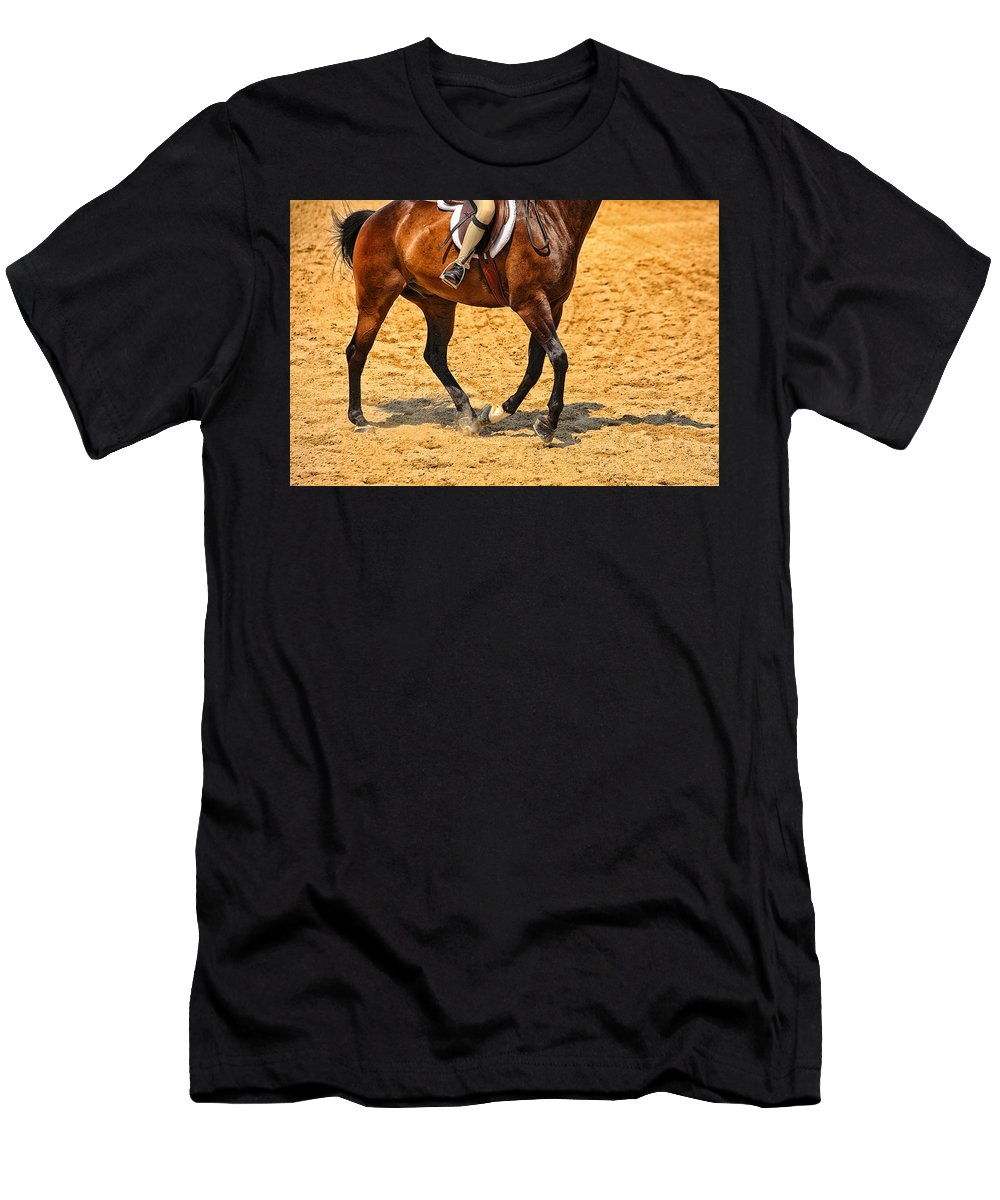 Horse Men's T-Shirt (Athletic Fit) featuring the photograph Gallop by Karol Livote