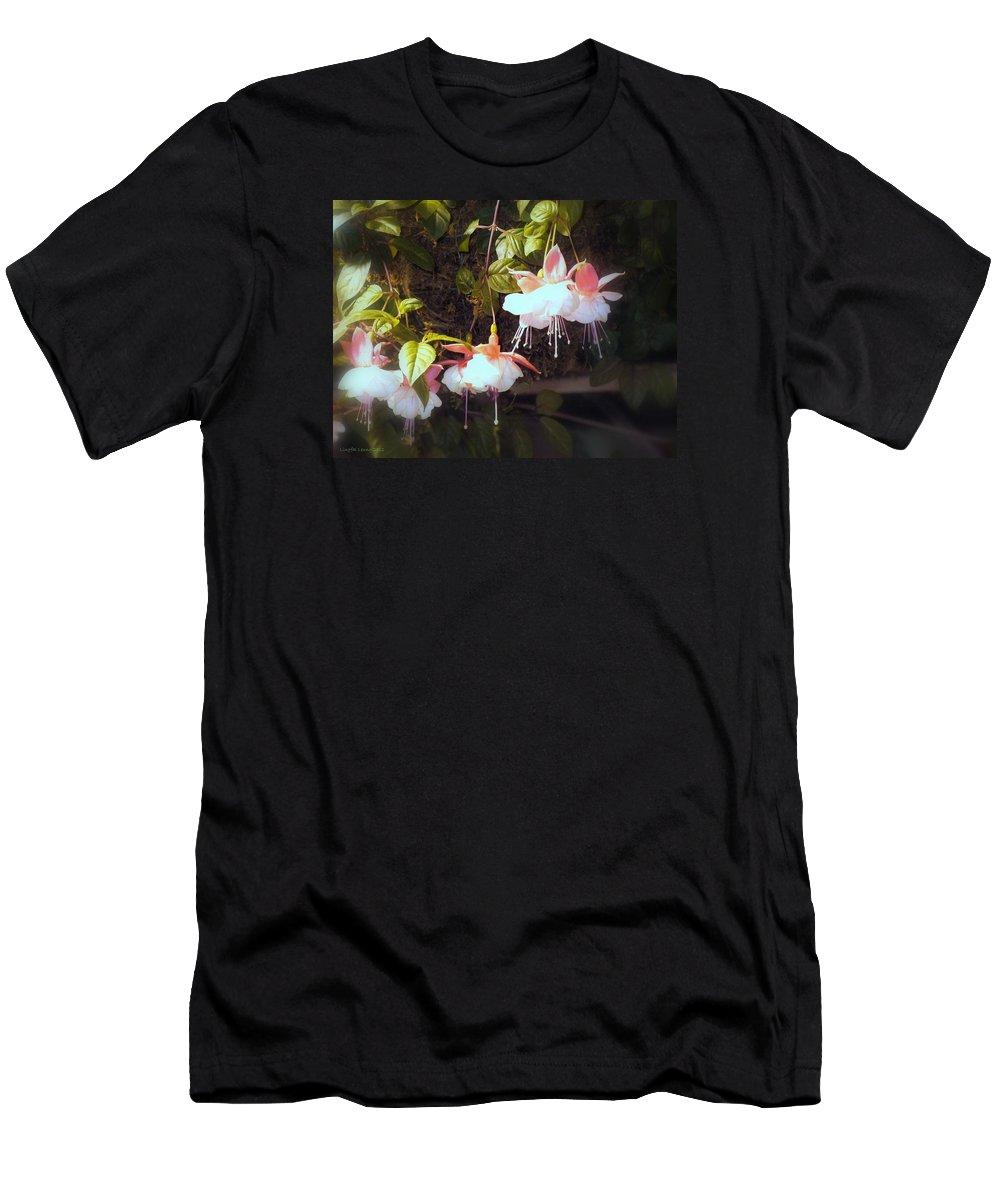 Flower Photography Men's T-Shirt (Athletic Fit) featuring the photograph Garden Ballerinas by Lingfai Leung