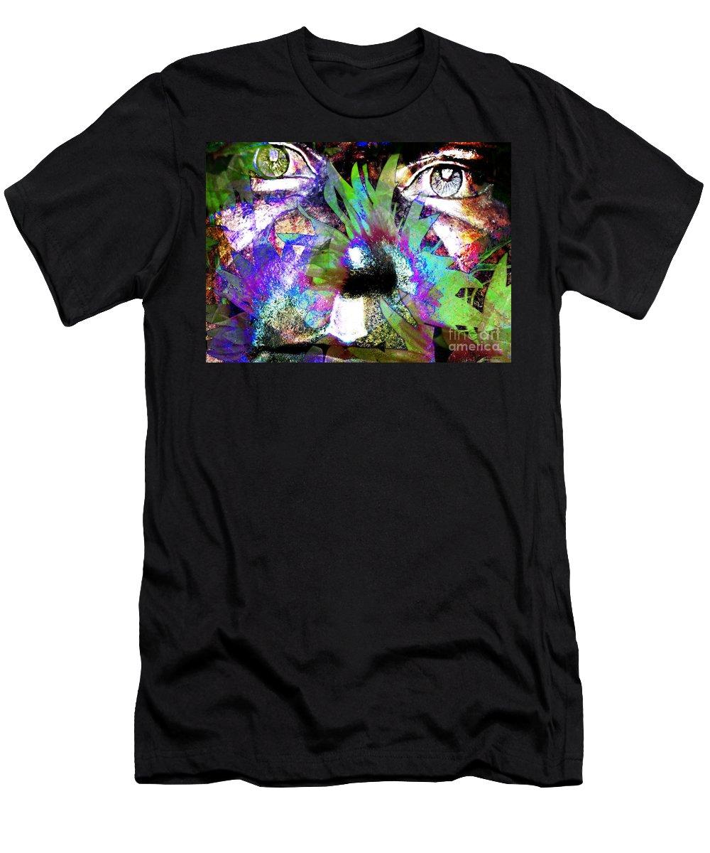 Fractal Art Men's T-Shirt (Athletic Fit) featuring the digital art Garden Guardian 3 by Elizabeth McTaggart