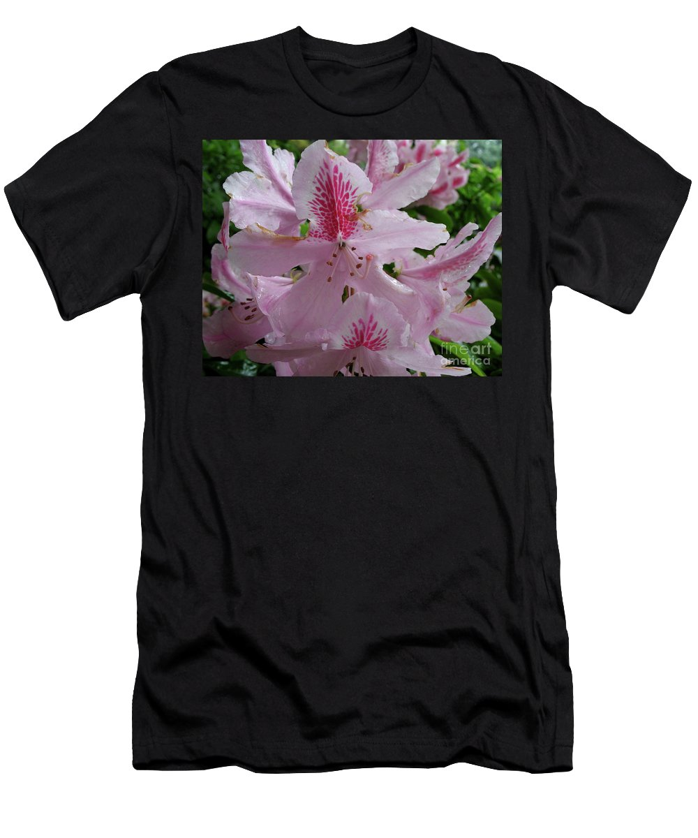 Rhododendron Men's T-Shirt (Athletic Fit) featuring the photograph Garden Sunshine by Christiane Schulze Art And Photography