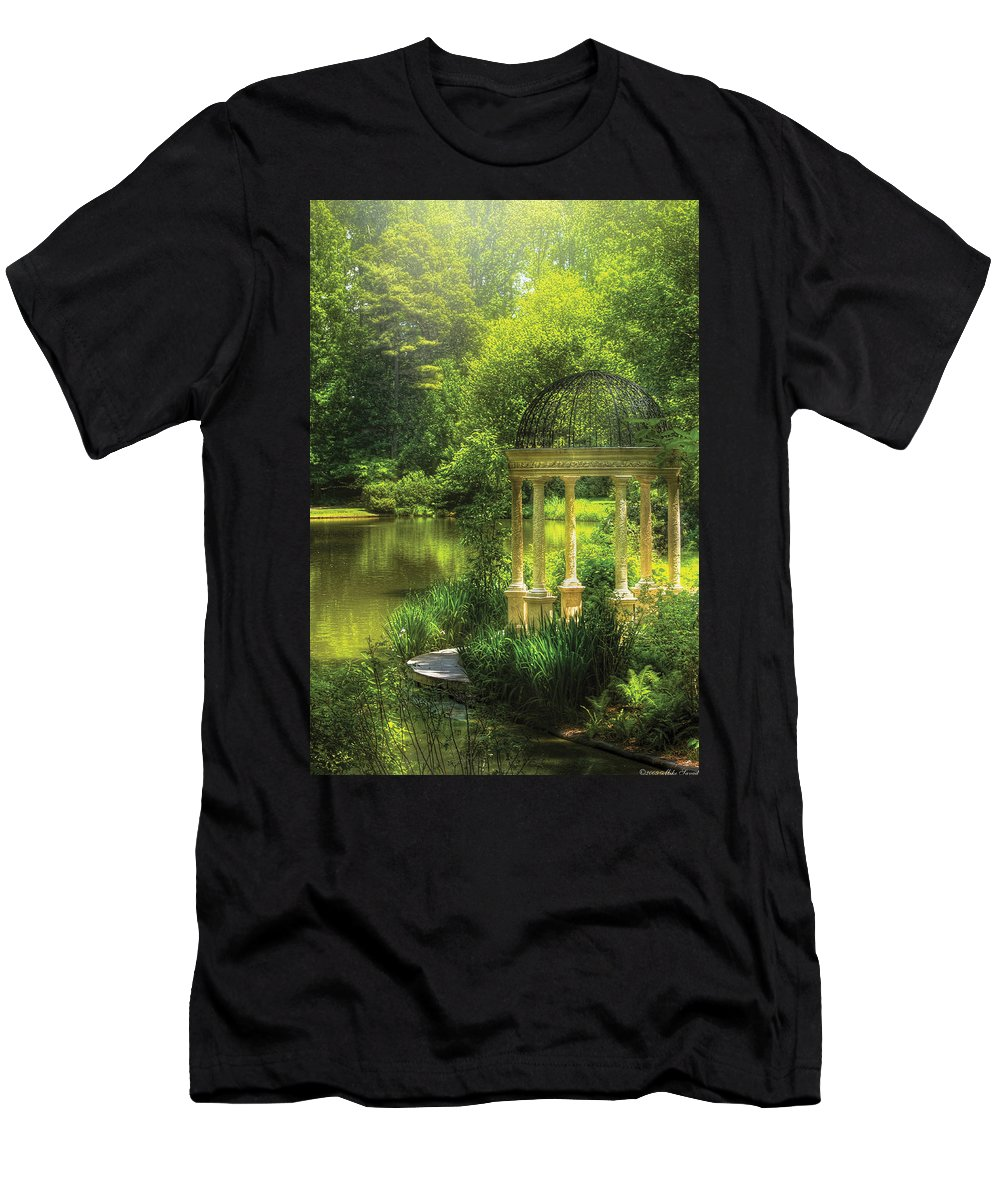 Savad Men's T-Shirt (Athletic Fit) featuring the photograph Garden - The Temple Of Love by Mike Savad