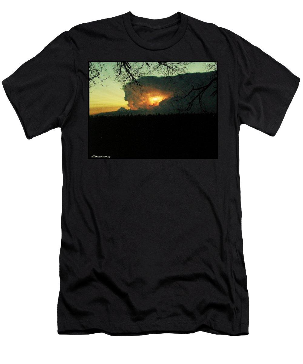 Storm Clouds Men's T-Shirt (Athletic Fit) featuring the photograph Gathering Storm by Ellen Cannon