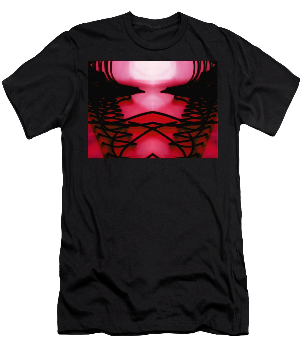Lines Men's T-Shirt (Athletic Fit) featuring the photograph Gazing Into The Future by Ric Bascobert