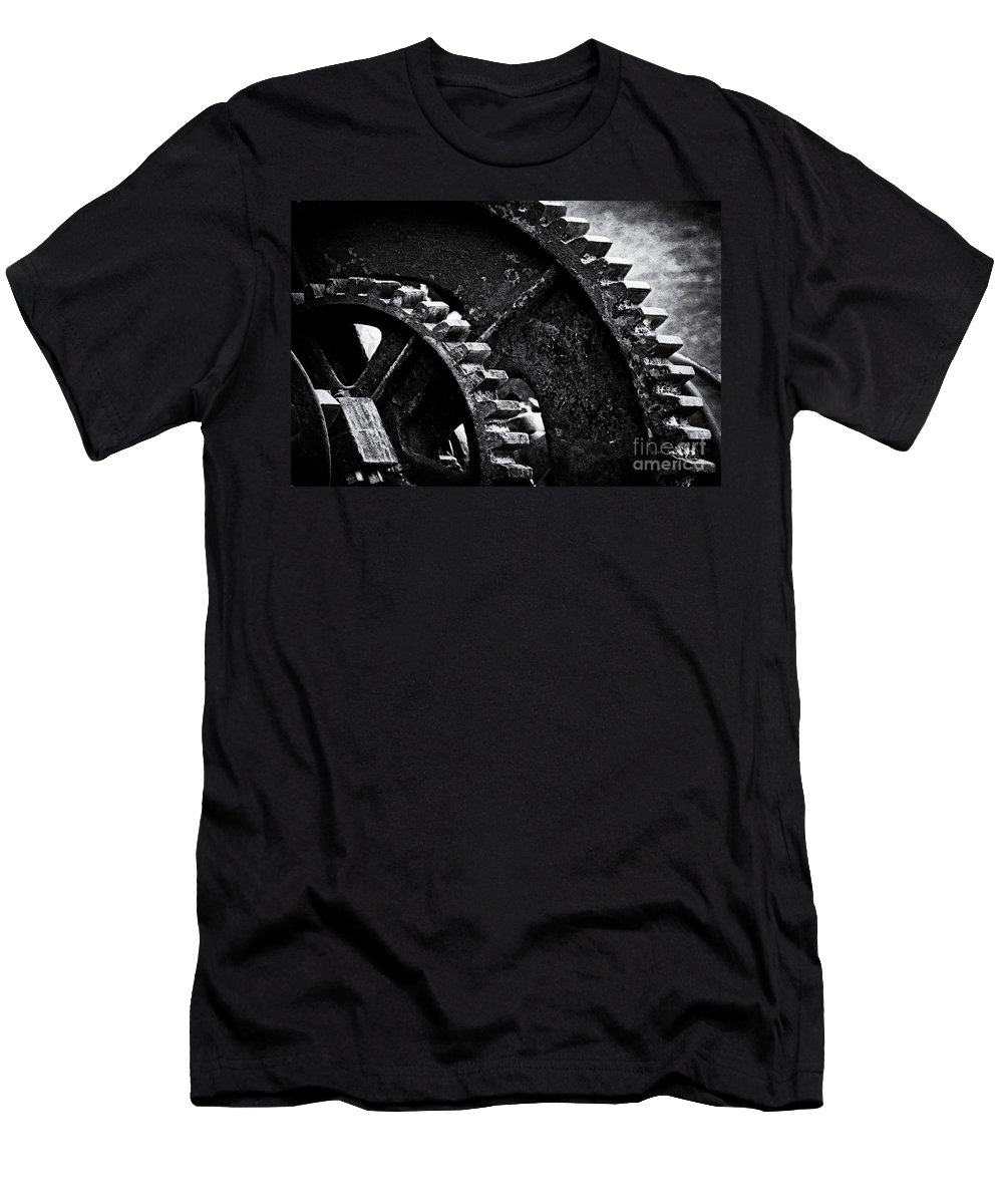 Gear Men's T-Shirt (Athletic Fit) featuring the photograph Geared Up by Joe Geraci