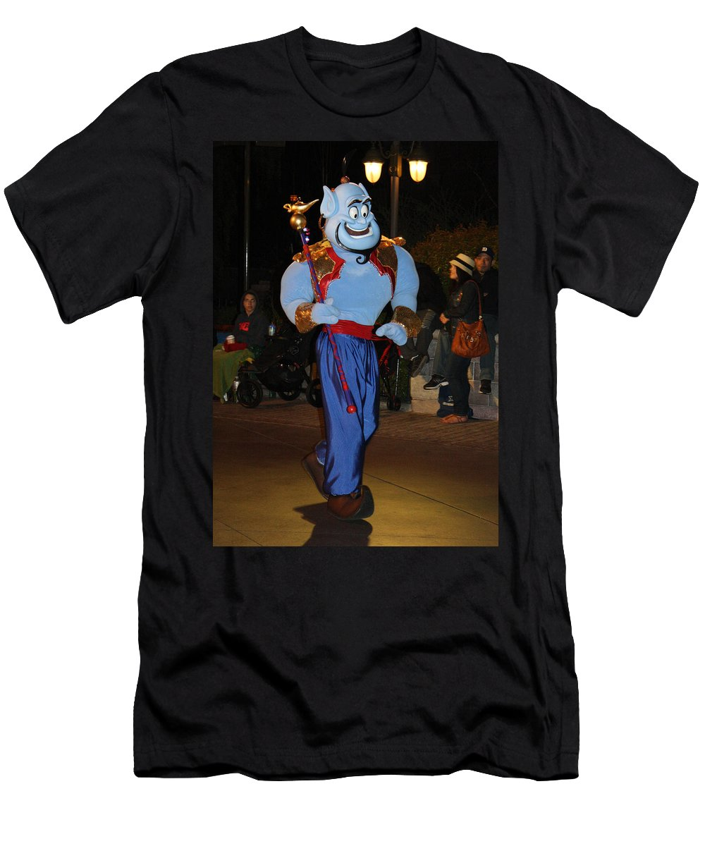 Disney Land Men's T-Shirt (Athletic Fit) featuring the photograph Genie With Moves by David Nicholls