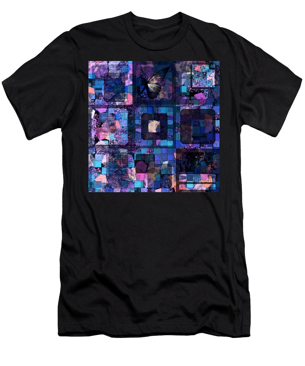 Squares Men's T-Shirt (Athletic Fit) featuring the digital art Geomix 02 - 45bc2 by Variance Collections