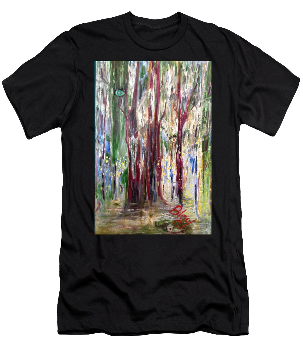 Trees T-Shirt featuring the painting Georgia Marsh in March by Peggy Blood