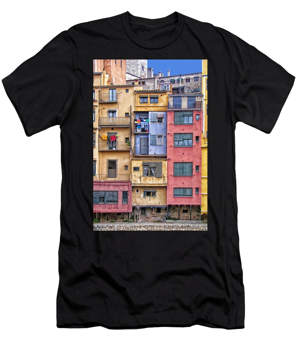 Girona Men's T-Shirt (Athletic Fit) featuring the photograph Gerona 2 by Nikolyn McDonald