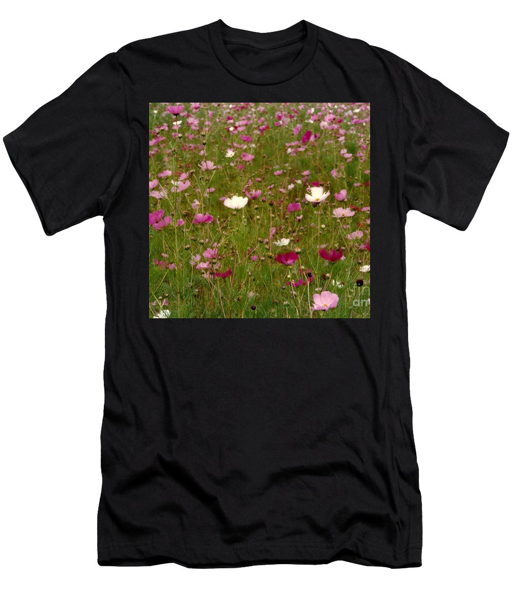 Flora Photos Men's T-Shirt (Athletic Fit) featuring the photograph Get Well Bouquet Just For You by Michael Hoard