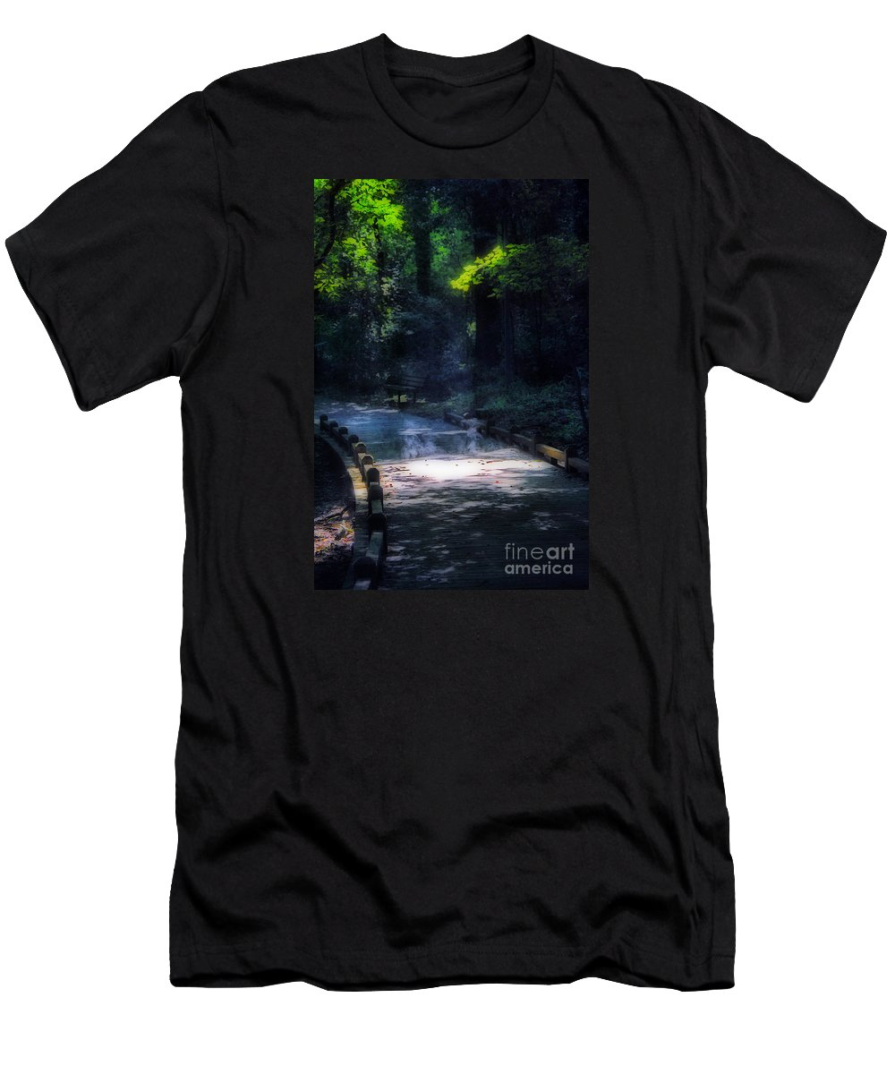 Scenic Tours Men's T-Shirt (Athletic Fit) featuring the photograph Ghosts by Skip Willits