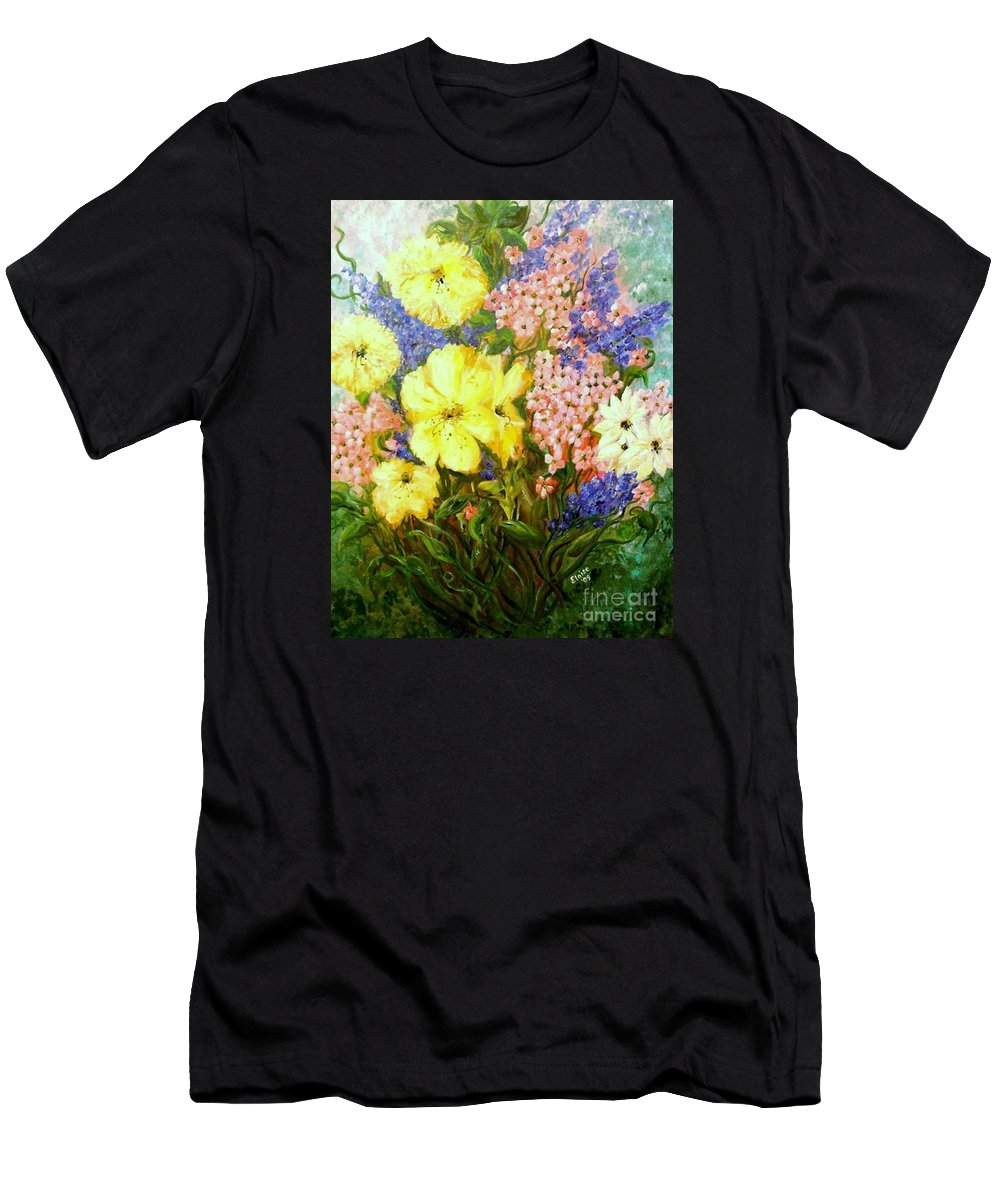 Flower Men's T-Shirt (Athletic Fit) featuring the painting Give Me Serenity by Eloise Schneider Mote