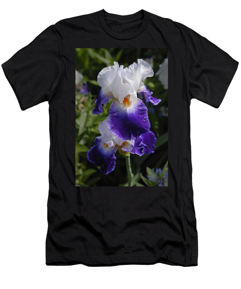 Monet Men's T-Shirt (Athletic Fit) featuring the photograph Giverny Iris by Gene Norris