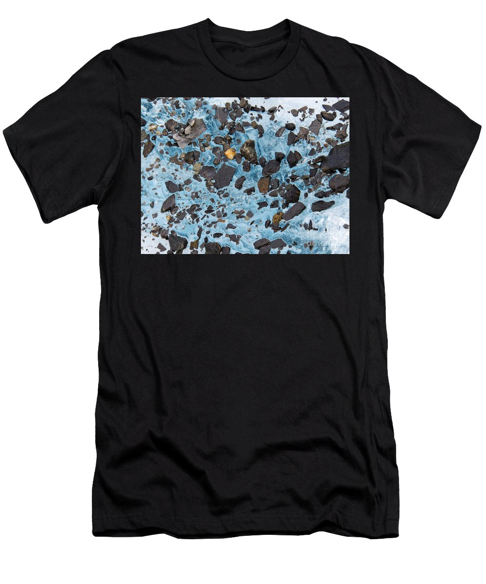 Glacier Men's T-Shirt (Athletic Fit) featuring the photograph Glacial Gold by Stacey May