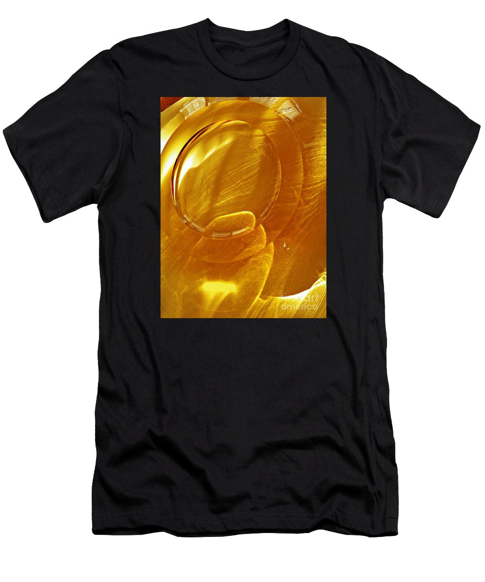 Abstract Men's T-Shirt (Athletic Fit) featuring the photograph Glass Abstract 639 by Sarah Loft