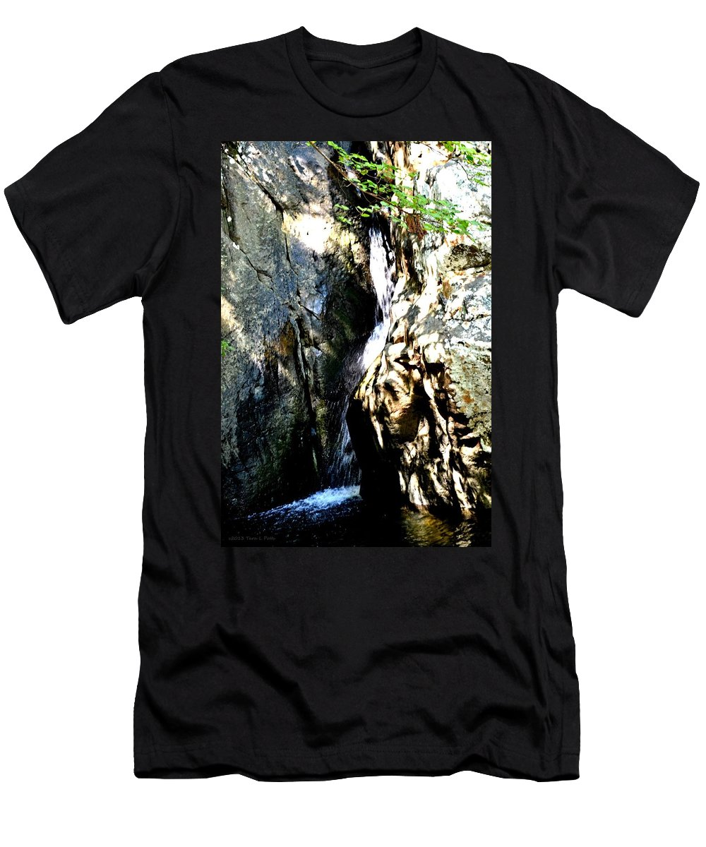 Glen Falls Men's T-Shirt (Athletic Fit) featuring the photograph Glen Falls by Tara Potts