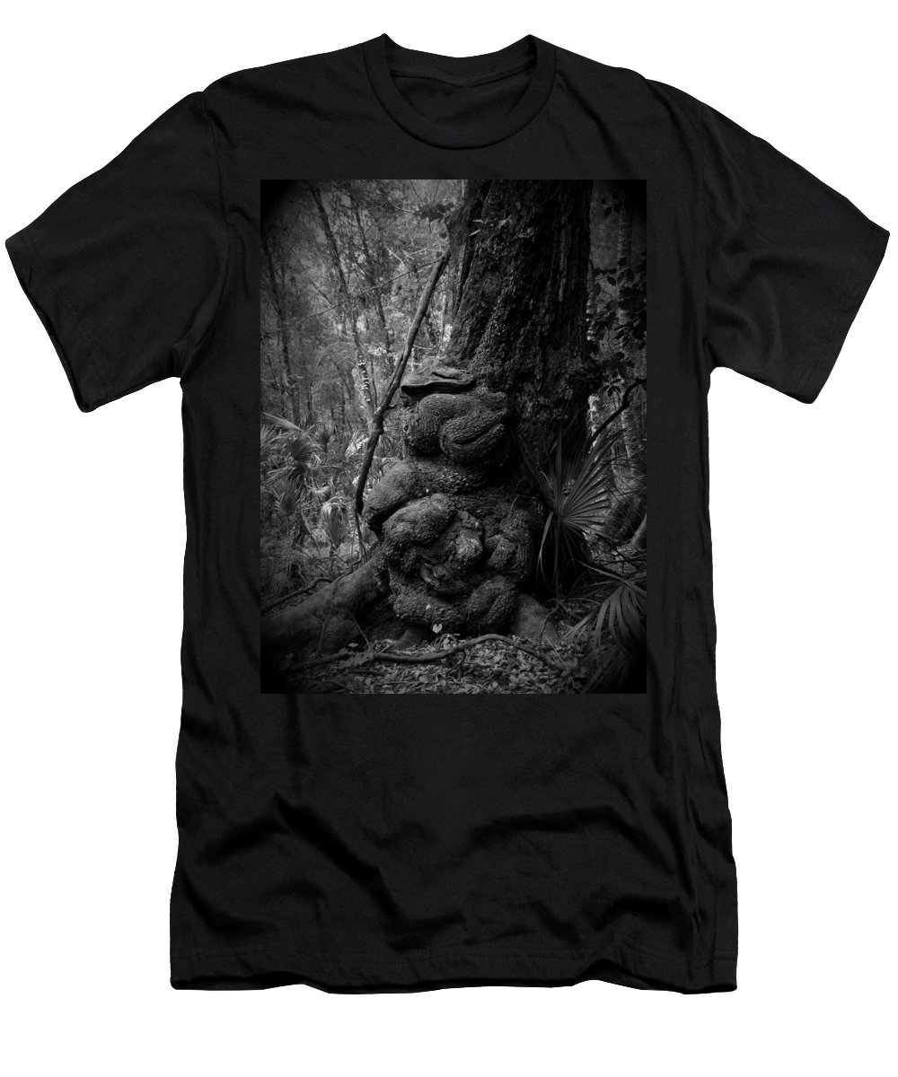 Black Men's T-Shirt (Athletic Fit) featuring the photograph Gnarled Number 1 by Phil Penne